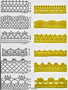 7 padrões de renda crochê | Todos crochet