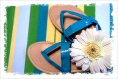 Blue Flip Flops