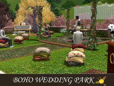 evi's Sims 3 Downloads The Sims, Sims 4, Baseball Field, Boho Wedding, Teen, Park, Artist, Kids, Houses