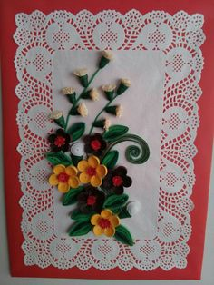 HOBY Quilling Quilling school facebook page Nihal Çetin . Quilling, Napkins, Tableware, Kitchen, Facebook, School, Bedspreads, Cooking, Dinnerware