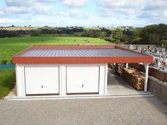 garage bois toit plat