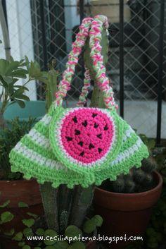 Carterita Sandía || Watermelon Handbag    • C! • by Cecilia Paterno