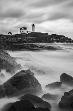 Dreary Day at Cape Neddick Light by Brandon Verdoorn on 500px
