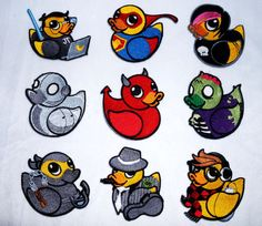 Iron On Patch Rubber Duckie varieties by FabbricCrafts on Etsy, $7.00