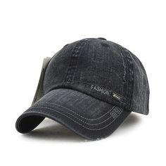 [AETRENDS] 2016 New Men's Washed Denim Sun Visor Baseball Caps Men Cotton Polo Cap Z-2207