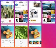 Instagram App UI PSD