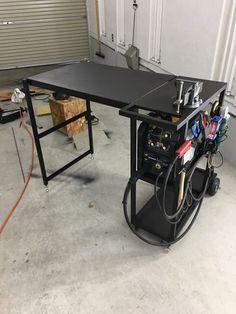 Welding Bench, Welding Table Diy, Welding Cart, Welding Shop, Welding Tools, Metal Welding, Welding Projects, Welding Workshop, Garage Workshop