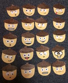 My attempt at acorn emoji door decs for fall #RA #doordecs