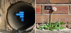 Il joue avec la rue pour créer des installations artistiques pleines d'humour