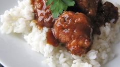 Beef meatballs are browned, then simmered in a sweet and sour sauce. Great as an appetizer or as a main dish served over rice.