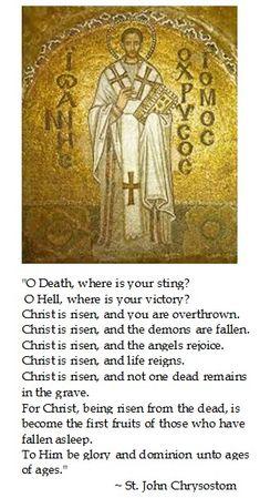 Saint John Chrysostom on Easter Catholic Quotes, Catholic Prayers, Catholic Saints, Religious Quotes, Roman Catholic, Spiritual Quotes, John Chrysostom, Saint Quotes, Orthodox Christianity