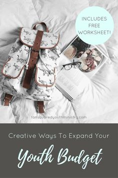 Here's 3 creative ways to help you expand your budget for Youth Ministry. Includes a free worksheet to help you get started. Tansquared Youth Ministry