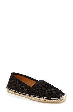 Free shipping and returns on Gucci 'Pilar Guccissima' Espadrille Flat (Women) at Nordstrom.com. Refined logo patterning highlights the timeless profile of an effortlessly sophisticated espadrille flat crafted in soft suede.