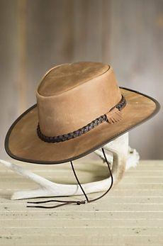 1233e96d509 Bravo Leather Cowboy Hat Leather Cowboy Hats