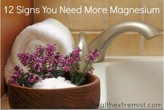 12 Signs Your Health Problems are Actually Magnesium Deficiency Symptoms