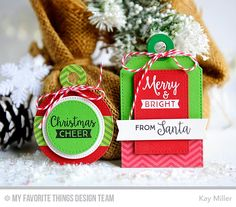 Gift Tag Greetings, Tag Builder Blueprints 4 Die-namics - Kay Miller  #mftstamps
