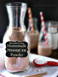 Homemade Nesquik Chocolate Powder Milk Recipe at sewlicioushomedecor.com  Homemade Nesquik Recipe