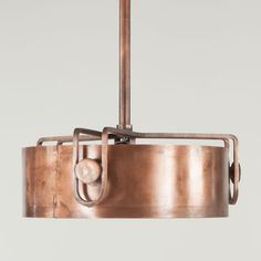 Shop for Industrial Copper Metal Drum Pendant. Get free delivery On EVERYTHING* Overstock - Your Online Ceiling Lighting Store! Get in rewards with Club O! Round Pendant Light, Copper Pendant Lights, Drum Pendant, Mini Pendant, Pendant Lighting, Stairwell Chandelier, Ceiling Lamp, Ceiling Lights, Copper Kitchen