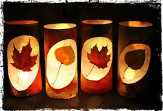 River Bliss: Savoring Light: Leaf Lantern Tutorials