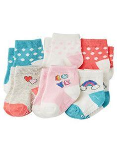 Carter's Baby-Girls Socks, Love, 12-24 Months (Pack of 6)