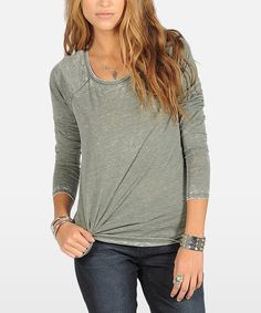 Take a look at this Military Lived-In Burnout Tee on zulily today!