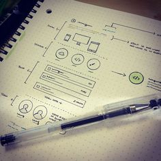 30 Great Examples of Web Design Sketches