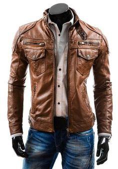 Men& biker style slim fit brown original leather jacket, cow boy l Boys Leather Jacket, Leather Men, Lambskin Leather, Men's Leather Jackets, Vintage Leather Jacket, Brown Jacket, Custom Leather, Real Leather, Black Leather