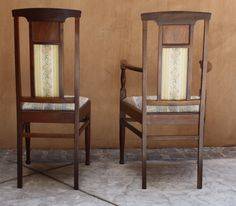 Magnificent French 19C Art Nouveau 6P Chairs (2 Arm Chairs & 4 Regular Chairs) | eBay