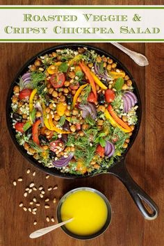 6 reviews · 60 minutes · Serves 8 · This healthy and delicious salad is full of roasted veggies, Israeli couscous, crispy chickpeas and fresh herbs. Everyone loves this one! #healthysalads #picnicfood #israelicouscous Israeli Couscous Salad, Chickpea Salad, Quinoa, Roasted Veggie Salad, Salad Recipes, Healthy Recipes, Healthy Foods, Crispy Chickpeas, Salad With Sweet Potato