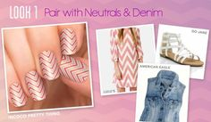 What a beautiful idea of geometric nail art with stripes for everyday!
