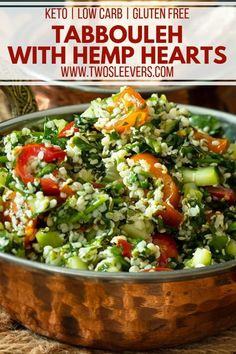 Tabbouleh with Hemp Hearts | Keto Tabbouleh Recipe