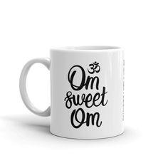 OM SWEET OM CERAMIC COFFEE MUG 11oz