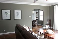 Family Room color Benjamin Moore Antique Pewter.  from numberedstreetdesigns.blogspot