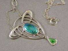 Stunning Art Nouveau Silver Enamel Pendant by Charles Horner 1911 | eBay
