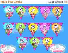 15% OFF Shopkins birthday banner, shopkins birthday, shopkins birthday decorations