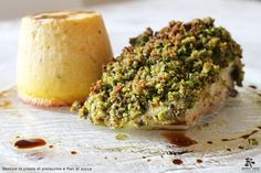 Dentice in crosta di pistacchio e flan di zucca - Spirito Mediterraneo Modica