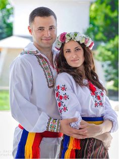Orthodox Wedding, Folk Clothing, Couple Outfits, Traditional Outfits, Romania, Ukraine, Christian, Culture, Costumes