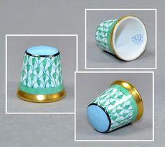 *THIMBLE ~ Herend + Hungary Porcelain Thimble