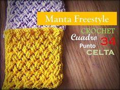PUNTO CELTA a crochet - cuadro 34 manta FREESTYLE (Diestro) - YouTube