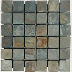 MSI Emperador Dark In X In X Mm Tumbled Marble Mesh - 2x2 granite tile