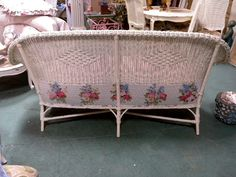 shabby chic sofa | eBay Shabby Chic Sofa, Shabby Chic Homes, Wicker Chairs, Wicker Furniture, The Chic, Wrought Iron, Pale Pink, Bassinet, Filigree