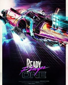 We are excited about Ready Player One movie by Steven Spielberg comig out in few months. If you didn't read the book, by Ernst Cline, go buy it today! The Future Movie, Back To The Future, Ready Player One Merchandise, Anime Rock, Ready Player One Movie, Digital Foto, Gamer Tags, Gamer 4 Life, Film Streaming Vf