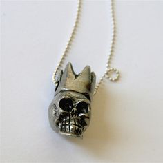 Skull Necklace Pewter