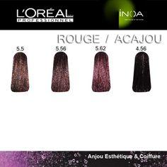 les rouges et acajous inoa - Coloration Inoa