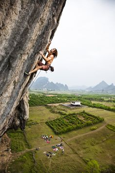 chris sharma... maybe someday i'll be able to lead something this tall and scary.