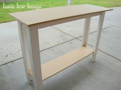 DIY Sofa Table - GENIUS!! Will solve my finding a sofa table dilemma!!
