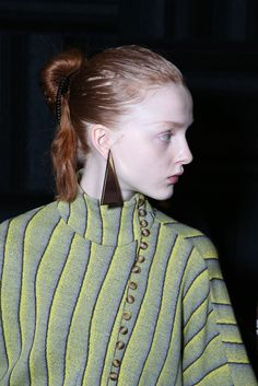 Backstage at JW Anderson RTW Fall 2015 [Photo by Giovanni Giannoni]
