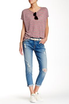 Josefina Mid Rise Skinny Boyfriend Jean by 7 For All Mankind on @nordstrom_rack