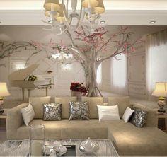 Barato Personalizado qualquer tamanho de parede 3D adesivos de parede para sala de estar, Modern moda bonito 2015 foto murais de papel de parede, Compro Qualidade Papéis de parede diretamente de fornecedores da China:  Modelo: QY0059