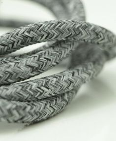 Old grey jumper Italian fabric lighting cable is genuine Italian style at its finest.